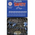 bulk box of 25mm silver safety pins