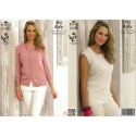 Bamboo Cotton 4ply Cardigan & Top