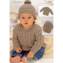 Sirdar Snuggly DK Knitting Pattern 1648 Sweaters, Hat and Blanket