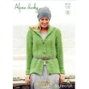 Ladies Fitted Jacket in Alpaca Chunky