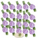 Small Light Orchid Ribbon Roses With Green Leaf