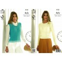 Bamboo Cotton 4ply Crochet Sweater & Top