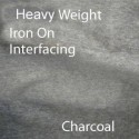 Heavy Weight Sew On Interfacing Charcoal
