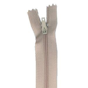 "16"" 41cm Light Peach Light weight nylon zip closed end"