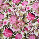 Polyester Fabric Floral Pinks