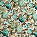 Polyester Fabric Floral Peach