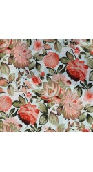 Polyester Fabric Floral Greens