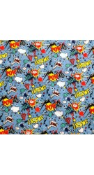 superhero fabric Blue