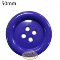 50mm 4 hole plastic Blue button