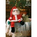 King Cole Double Knit & Sprinkles 8000 Father Christmas Knitting Pattern