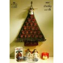 King Cole Chunky & Double Knit 8001 Advent Tree & Angles Knitting Pattern