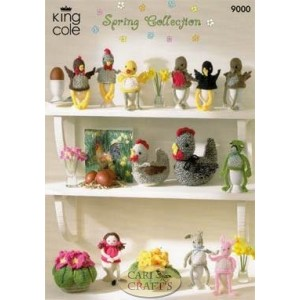 King Cole Double Knit 9000 Spring Collection Knitting Pattern
