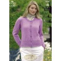 King Cole Double Knit 3236 Cardigan & Sweater Knitting Pattern