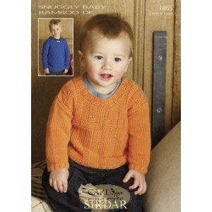Sirdar Snuggly Baby Bamboo 1865 Sweaters Knitting Pattern