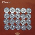 12mm White Star buttons