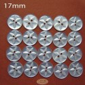 17mm White Star buttons