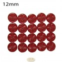 12mm red Star buttons