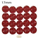 17mm Red Star buttons