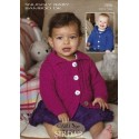 Sirdar Snuggly Baby Bamboo 1956 Cable Jacket Knitting Pattern