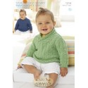 Sirdar Snuggly Baby Bamboo 1214 Sweaters Knitting Pattern