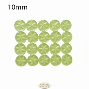 10mm lime green Star button
