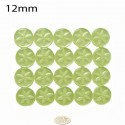 12mm Lime Star buttons