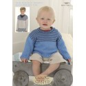 Sirdar Snuggly Baby Bamboo 1831 Sweaters Knitting Pattern