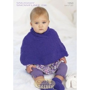 Sirdar Snuggly Snowflake DK Knitting Pattern 1950 Poncho and Bootees