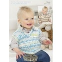 Snuggly Baby Crofter DK  Knitting Pattern 1946 Sweater and Tank Top