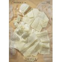 Sirdar Snuggly 4ply 1662 Lacy Matinee Set Knitting Pattern
