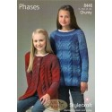 Stylecraft Phases Chunky Pattern 8446 Coat and Sweater