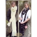 Stylecraft Life Chunky and DK Knitting Pattern 8266 Scarves