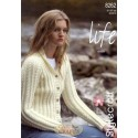 Life Aran Knitting Pattern 8262 Jacket