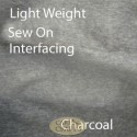 Light Weight Iron On Interfacing Charcoal