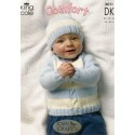 Baby Comfort Double Knit Sweater, Cardigan and Hat 3011