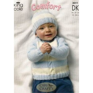 BABY KNITTING PATTERNS IN DOUBLE KNIT   KNITTING PATTERN