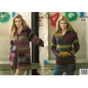 King Cole Riot DK 3315 Coat & Top Knitting Pattern