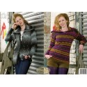 King Cole Riot Chunky 3370 Sweater & Coat Knitting Pattern