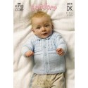 Baby Comfort Double Knit Jacket, Sweater and Slipover 3014