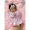 King Cole Baby Comfort Double Knit 3153 Cardigans & Sweater Knitting Pattern