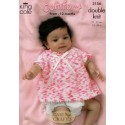King Cole Baby Comfort DK 3156 Jackets, Sweater & Angel Top Knitting Pattern
