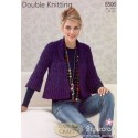 Stylecraft Double Knit Knitting Pattern 8506 Jacket
