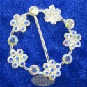 Round Cluster Diamante Buckle Crystal A.B