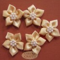 5 Petal Ribbon Flower Lemon