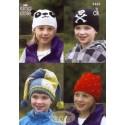 King Cole Double Knit Knitting Pattern 3442 Children's Hats