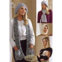 King Cole Double Knit Knitting Pattern 3444 Lady's Accessories
