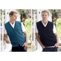 King Cole 4Ply Kintting Pattern 3421 Slipover and Waistcoat