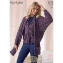 Stylecraft Highlights DK Knitting Pattern 8576 Jacket and Scarf