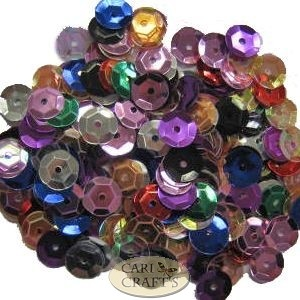 8mm Cupped Sequins Pink AB
