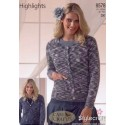 Stylecraft Highlights DK Knitting Pattern 8578 Cardigans